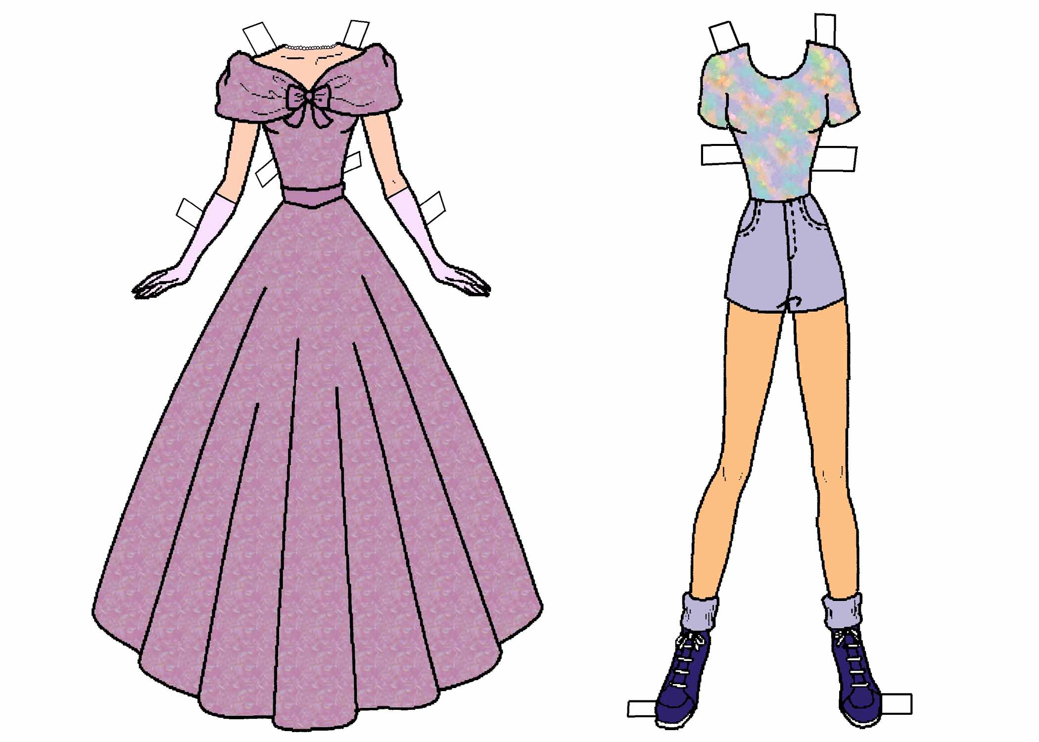 photo about Paper Doll Clothes Printable known as Quirk of the Thirty day period: Paper Dolls